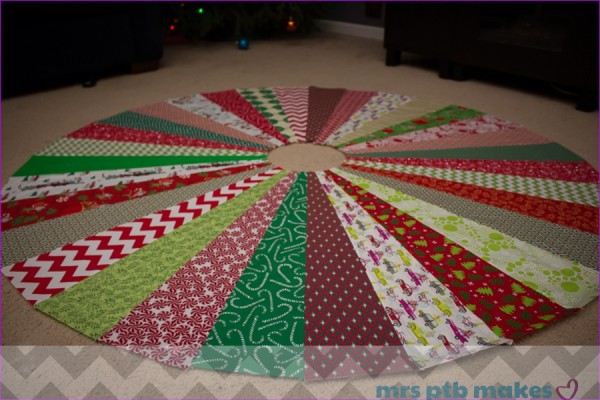 A Quilted Tree Skirt